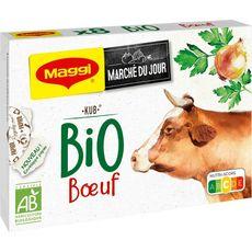 MAGGI Maggi Bouillon au boeuf bio 8 cubes 80g 8 cubes 80g