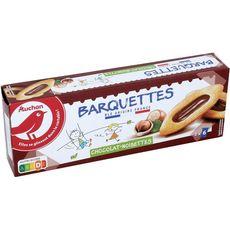 AUCHAN RIK & ROK Barquettes chocolat-noisettes, sachets fraîcheur 3x6 biscuits 120g