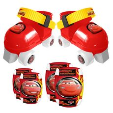 Patins + set de protection T 23 à 27- Cars