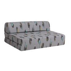 Chauffeuse 2 places tissu PLUME