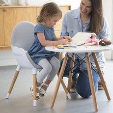 AT4 Chaise haute bébé évolutive gris IKID