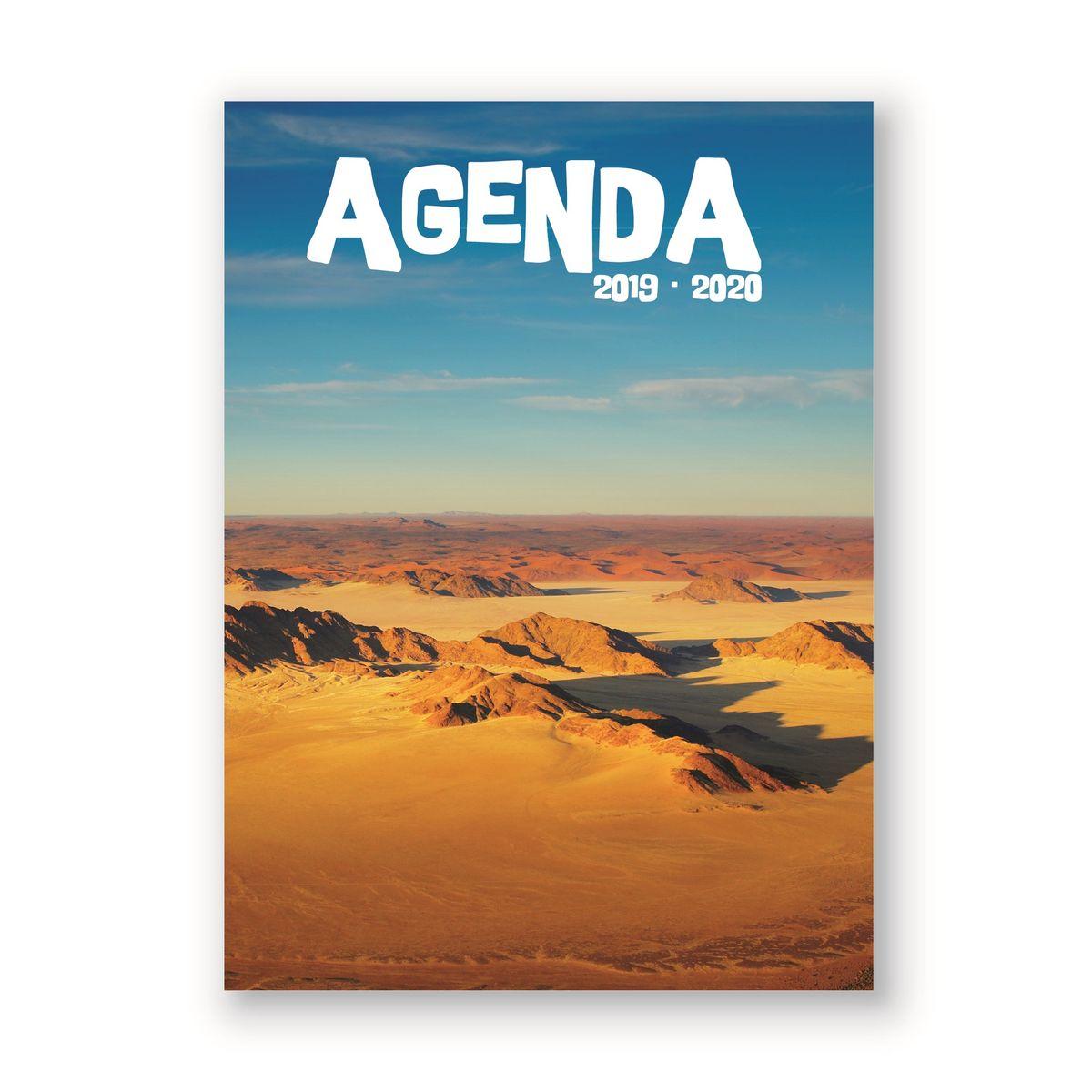 Agenda scolaire journalier 320 pages 119x163cm lycéen fantaisie désert 2019 2020