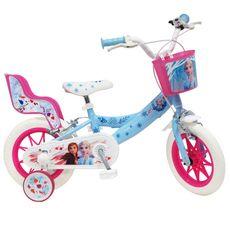 Reine des neiges Vélo 12 pouces - Reine des Neiges 2 avec panier et porte-poupée
