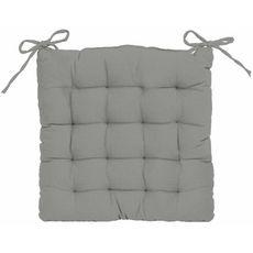 Galette de chaise matelassée unie en coton