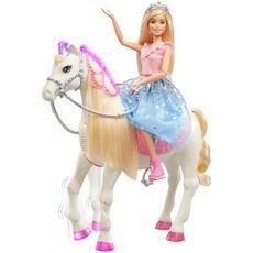 BARBIE Poupée Barbie Princesse et son cheval merveilleux