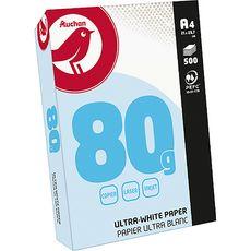 AUCHAN Ramette de papier ultra blanc 500 feuilles A4 – 80g