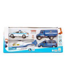 Coffret 4 véhicules de secours + accessoires