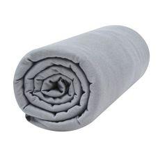 PTIT BASILE Lot x2 draps housse jersey lit berceau cododo, nacelle en coton Bio 50 x 80 cm (Blanc/Gris foncé)