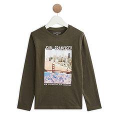 IN EXTENSO T-shirt manches longues garçon (Vert kaki)