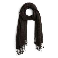IN EXTENSO Echarpe gris anthracite femme