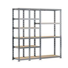 Concept rangement de garage MODULÖ STORAGE SYSTEME EXTENSION 3 étagères -16 plateaux longueur 200 cm