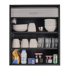 Rangement de cuisine à rideau coloris noir L60 cm - COOKING