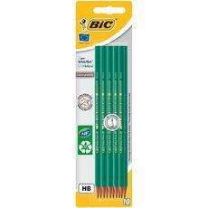 BIC Lot de 10 crayons graphite HB EVOLUTION ORIGINAL