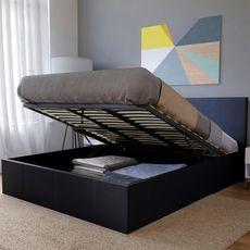Lit coffre 160 x 200 cm avec tête de lit et sommier COSTA