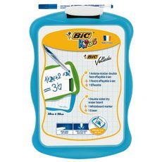 BIC Ardoise blanche 20x31cm + 1 feutre + 1 effacette bleu