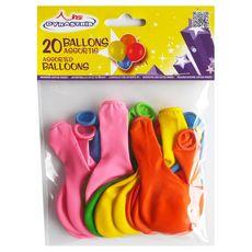 DYNASTRIB Ballons gonflables coloris assortis x20 20 pièces