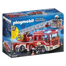PLAYMOBIL 9463 - City Action - Camion pompiers échelle pivotante