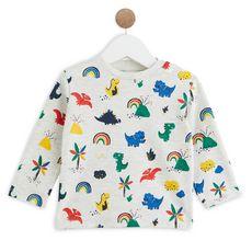 IN EXTENSO T-shirt manches longues coton bio bébé garçon