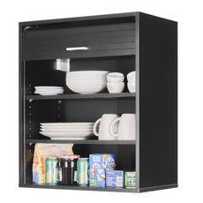 Rangement de cuisine à rideau coloris noir L60 cm - COOKING (Noir/Noir)