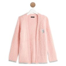 IN EXTENSO Gilet long fille (Rose)