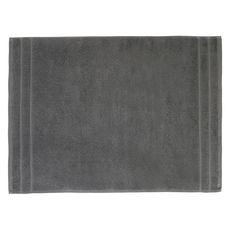 ACTUEL Tapis de bain uni en coton éponge tissé 1000 gr/m2  (Gris foncé)