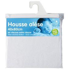 Babycalin Housse alèse en viscose  (Blanc)
