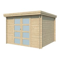Abri jardin bois APETINA / toit plat / 7.26m²