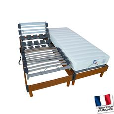 Lit relaxation électrique TPR LOMBATONIC4 - Lit 160x200 cm