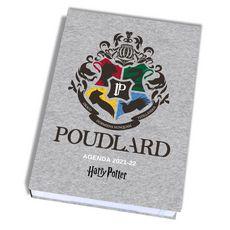 Agenda scolaire journalier Harry Potter POUDLARD gris clair 2021-2022