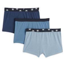 IN EXTENSO Lot de 3 boxers garçon (Bleu foncé)