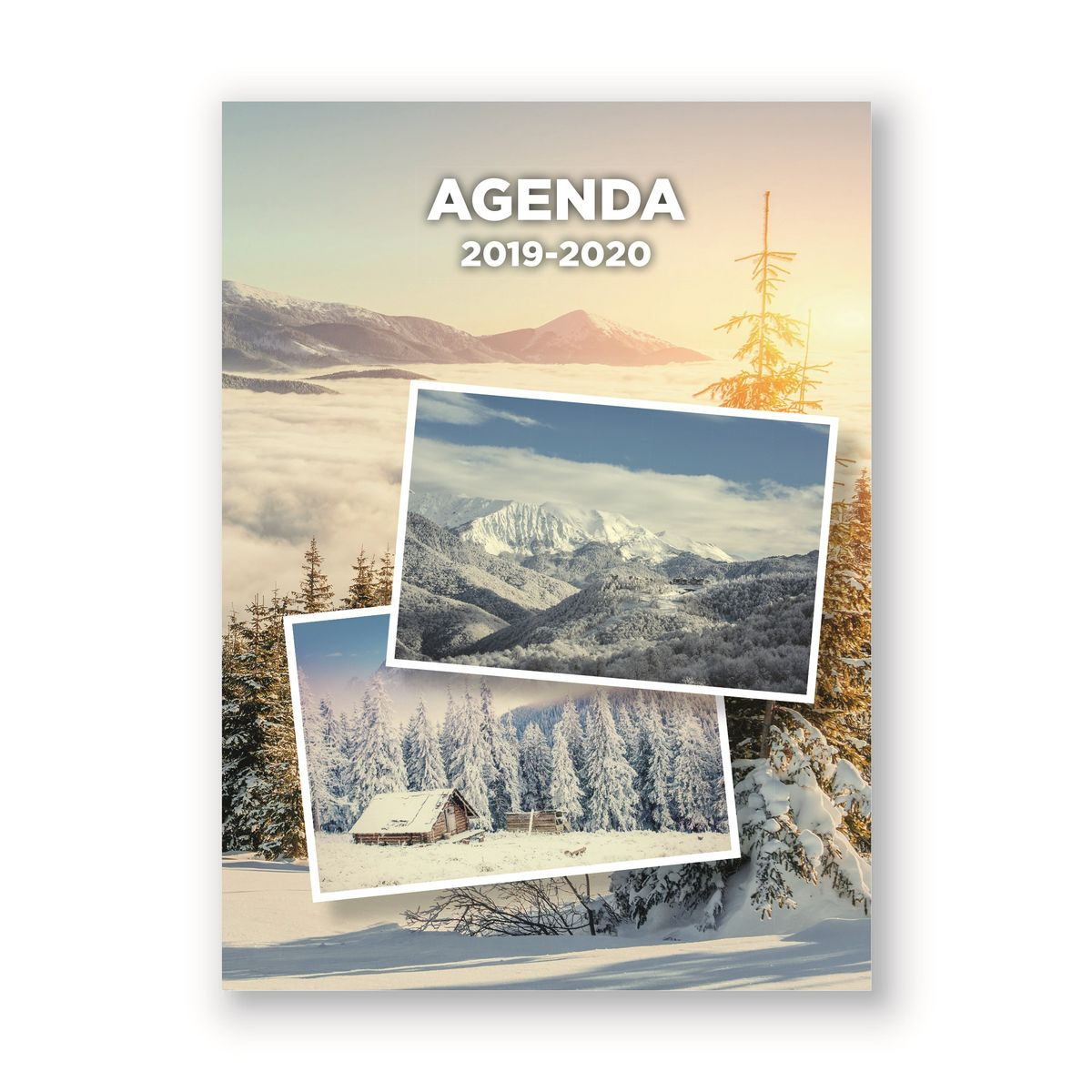 Agenda scolaire journalier 320 pages 119x163cm lycéen fantaisie montagne 2019 2020