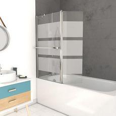 Aurlane Pare baignoire Ibiza - Verre sérigraphié 130 x 104