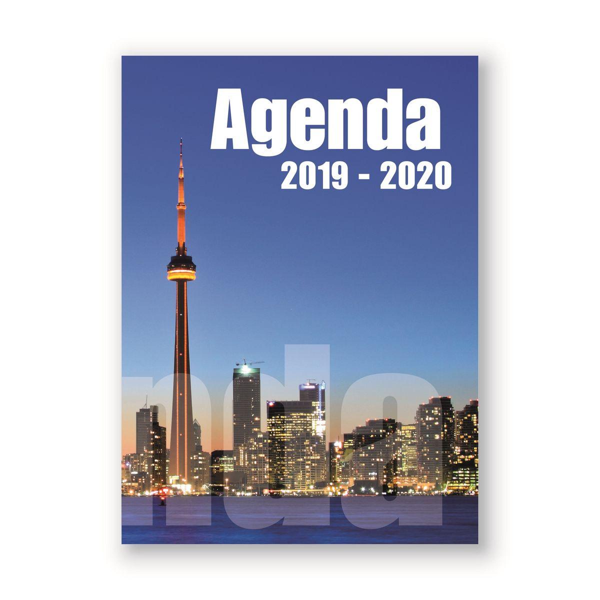 Agenda scolaire journalier 320 pages 119x163cm lycéen fantaisie ville 2019 2020
