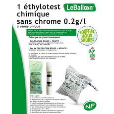 Lot de 10 Ethylotest 0,2g/l de sang à la norme NF 1 pièce