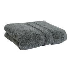 ACTUEL Drap de bain uni en coton 500 g/m² (Gris)