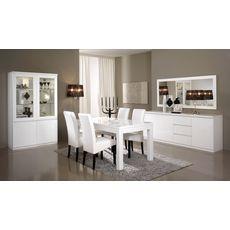 Buffet L220cm, 3 portes 3 tiroirs GENOVA (blanc)