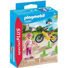 PLAYMOBIL  70061 Enfants avec Vélo et Rollers