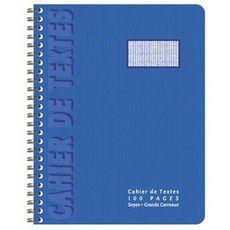 POUCE Cahier de texte à spirales 100 pages 1er prix 17.5x22cm