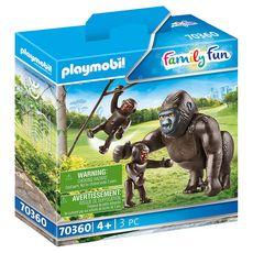 PLAYMOBIL 70360 - Family Fun - Gorille avec ses petits