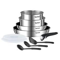 TEFAL Batterie de cuisine 10 pièces inox EMOTION Induction