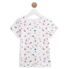 IN EXTENSO T-shirt manches courtes imprimé plage fille