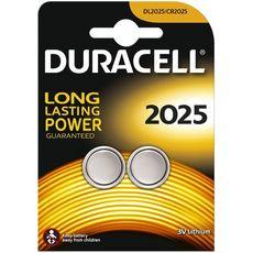 DURACELL Lot de 2 Piles Bouton Lithium type 2025 - 3V