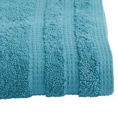 ACTUEL Drap de bain uni en coton bio organique 540 gr/m2 (Bleu azur)