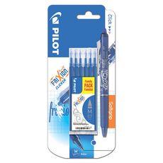 PILOT  Stylo roller effaçable rechargeable Frixion ball click Bleu + 6 recharges bleues