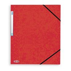 Chemise cartonnée à élastiques 24x32cm rouge