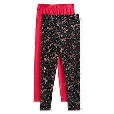 IN EXTENSO Lot de 2 leggings licornes fille