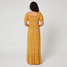 IN EXTENSO Robe longue imprimé femme (Jaune)