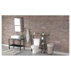 Meuble dessus wc 1 étagère + etagères latérales HOUSTON
