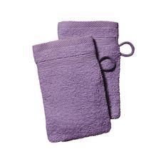 TODAY Lot 2 Gants unis en coton 600G/M²  (Violet)
