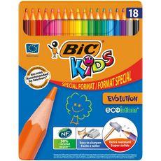 Crayons de couleur EVOLUTION ECOLUTIONS (lot de 18)